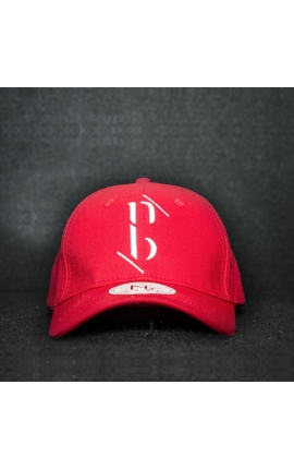 "Casquette baseball cap rouge ""NB by nobe"""